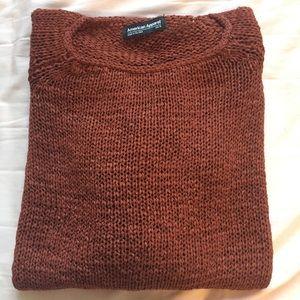 Rust Delphine tunic sweater